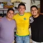 Lyoto, Jacaré e Tito, seu irmão.