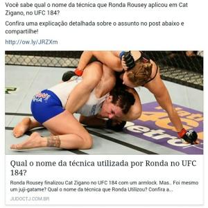 Qual o nome da técnica que Ronda Rousey aplicou no…